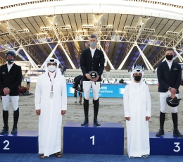 Speed demon Max Kühner thrills in LGCT Doha Curtain-Raiser